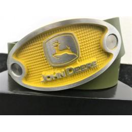 John Deere Ledergürtel gelb/grün.