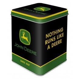 "Teedose ""John Deere - Logo Schwarz"""