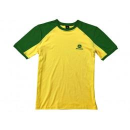 Zweifarbiges T-Shirt grün/gelb
