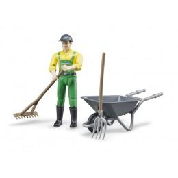 Figurine de fermier et accessoires