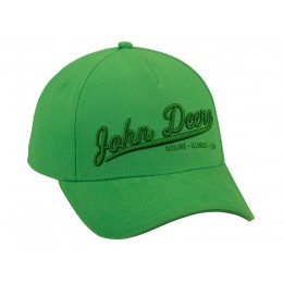 Casquette John Deere 3D verte