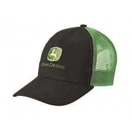 Casquette maille noire et verte