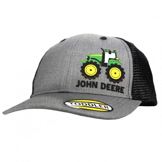 Graue JohnDeere Kappe für Kinder